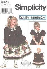 Simplicity 9426 Girls and Doll Dress Pattern Size 3 - 6