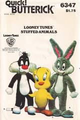 Bugs Bunny, Tweety, Sylvester Butterick 6347 Pattern