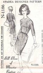 Bill Blass Spadea 1186 Bodice Motif Dress Pattern Bust 36.5