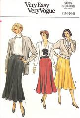 1980's Vogue 9055 Flared Gored Skirt Pattern Waist 28-32