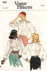 Vintage Vogue 7524 Yoke Blouse Pattern Bust 32.5