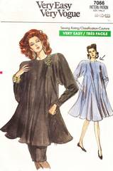 1980's Vogue 7066 Dress, Tunic, Skirt Pattern Sz 8, 10, 12