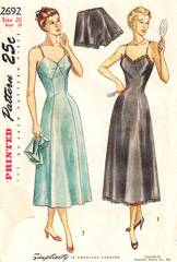 1940's Slip and Panties Simplicity 2692 Pattern Bust 38