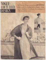Vintage 50's Vogue Couturier 112 Coat and Dress Pattern