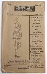 1920's Flapper Brassiere, Pantie Dance Set Pattern