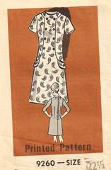 1960/1970's Mail Order Dress Pattern Bust 45