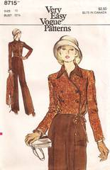 1970's Vogue 8715 Jumpsuit and Jacket Pattern Bust 32.5