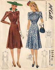 Vintage McCall 3614 Dress Pattern Bust 32