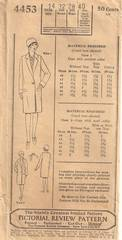 1920's Pictorial Review Girls Straight Coat Pattern Size 14