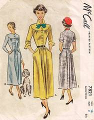 1940's New Look Era McCall 7821 Dress Pattern B31