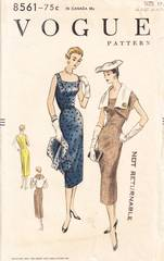 1950's Chic Slim Dress and Reversible Bolero Pattern B36