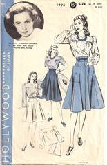 Geraldine Fitzgerald Hollywood 1995 Skirt and Blouse Pattern B32