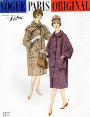 Patou Vogue 1466 Paris Coat Pattern 1950's