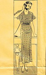 Vintage Marian Martin 9990 Dress Pattern Bust 38