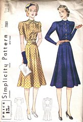30's Vintage Simplicity 3061 Misses' Dress Pattern Bust 34