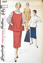 Three Piece Maternity Suit Vintage 1950's Pattern Bust 32