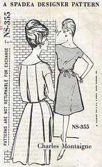 Charles Montaigne Spadea Back Box Pleats Dress Pattern Bust 38