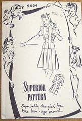 Superior Vintage Forties Two Piece Dress Pattern Bust 31