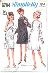 60's Vtg Formal Evening Slip Dress and Over Dress Pattern