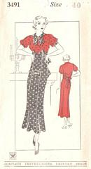 1930's NRA Vintage Dress Pattern Bust 40