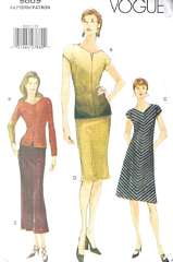 Vogue 9869 A-line Dress, Top and Skirt Pattern Sizes 6-10