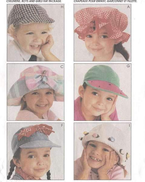 McCall's 8662 Abbe Gale Hats Pattern Boys and Girls