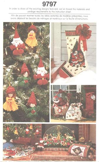 Simplicity 9797 Christmas Crafts Pattern