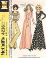 70's McCall's 4236 Scoop Neck Cowl Gown Pattern