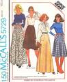 1970's Evening and Regular Skirts McCall's 5729 Pattern W 28-30