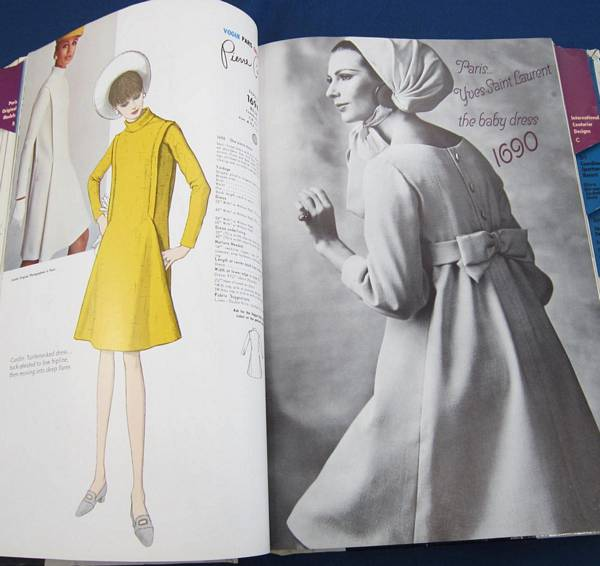 Yves Saint Laurent Vogue 1690 Baby Doll Dress 60's Pattern