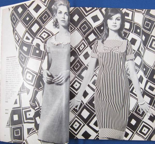 Vogue Pattern Book 1965 April May with Jean Shrimpton Cover