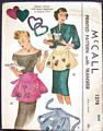 Vintage McCall 1278 Apron Pattern with Heart Transfer Applique