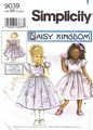 Simplicity 9039 Daisy Kingdom Girls and Doll Dress Pattern 3-6